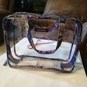 Vera Bradley Batik Leaves Cosmetic Bag